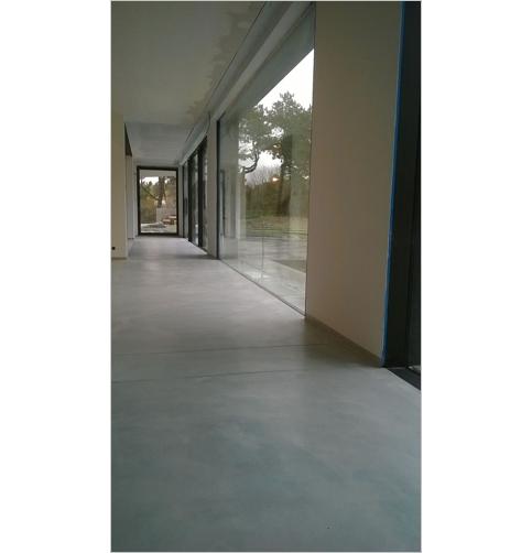 Traitement beton lissé
